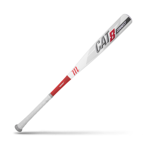 Marucci CAT 8 Connect White BBCOR Baseball Bat: MCBCC8