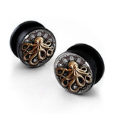 Octopus Acrylic Ear Gauges (8mm - 25mm, 10 Sizes Available)