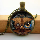 Steampunk Owl Pendant Necklace (4 Owl Variants each with 4 Color Options)