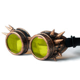 Steampunk Spiked Welding Style Goggles (7 Lens Color Options)