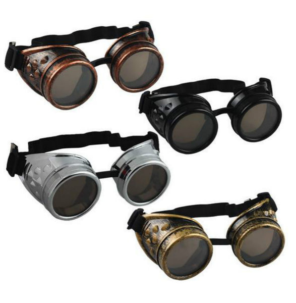 Steampunk Welding Style Goggles (4 Color Options)