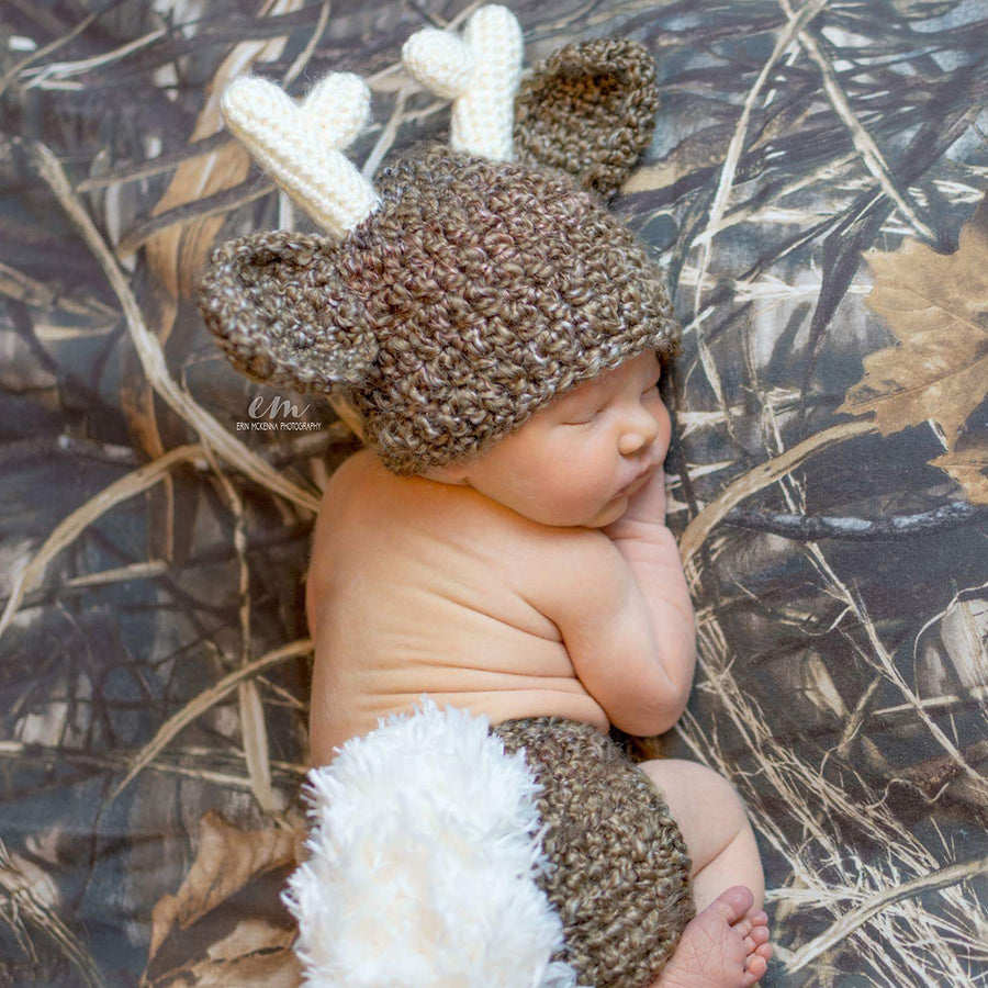 b97c2acf3 This baby deer outfit comes in a rich dark brown color with a fluffy white  tail