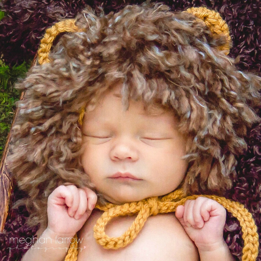 Baby Lion Costume - My Little Crochetables  sc 1 st  My Little Crochetables & Baby Lion Costume | Tribal Nursery Gift By My Little Crochetables