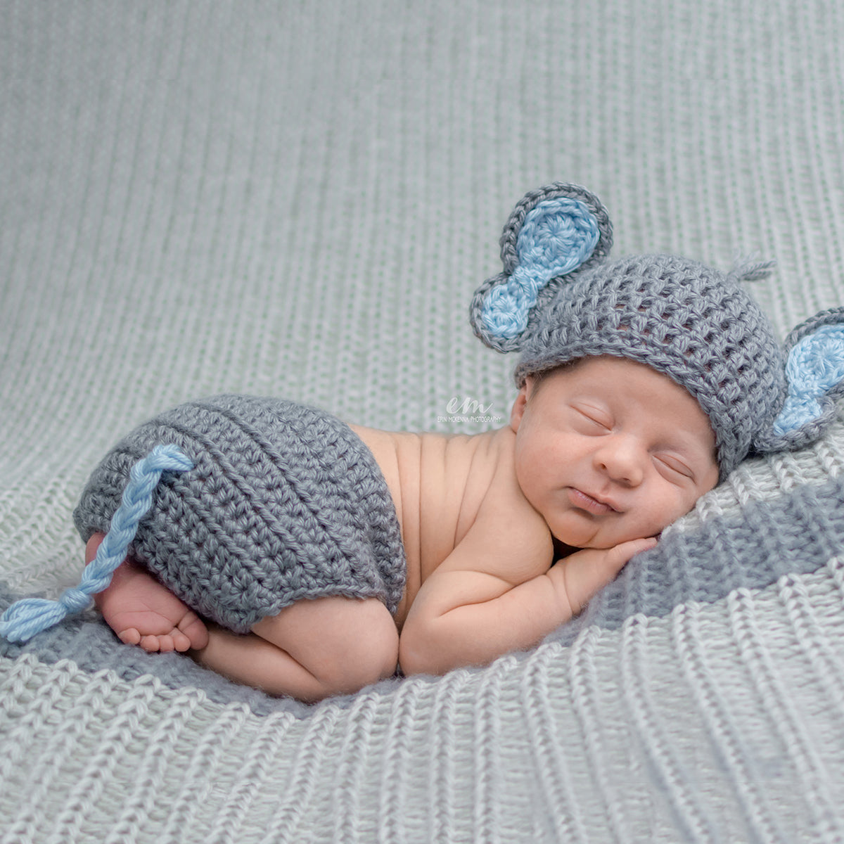 This baby boy elephant costume features a hat with big blue elephant ears and a matching  sc 1 st  My Little Crochetables & Baby Boy Elephant | Baby Outfits u0026 Costumes by My Little Crochetables
