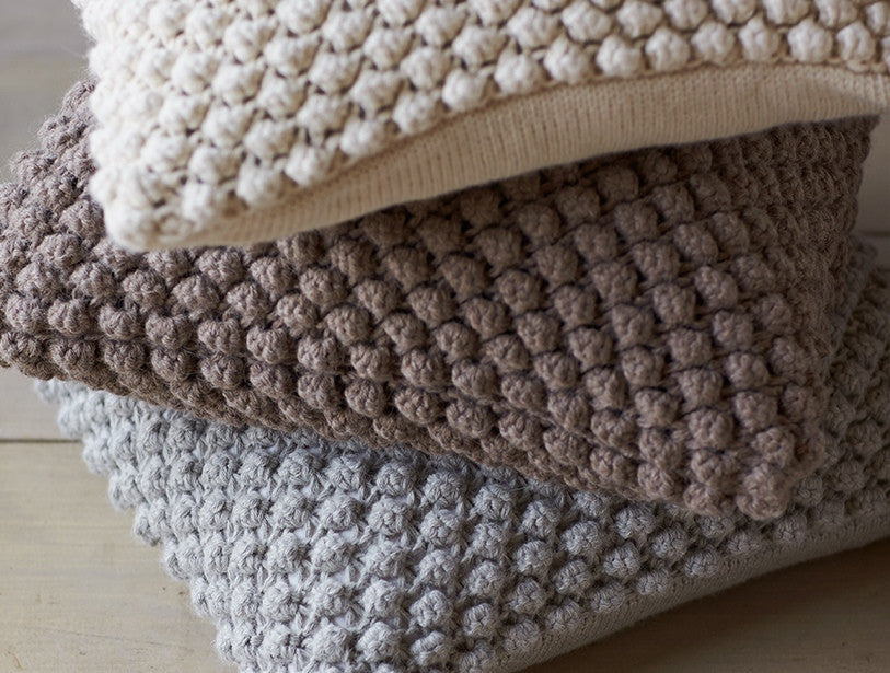 Alpaca Pebble Knit Pillow