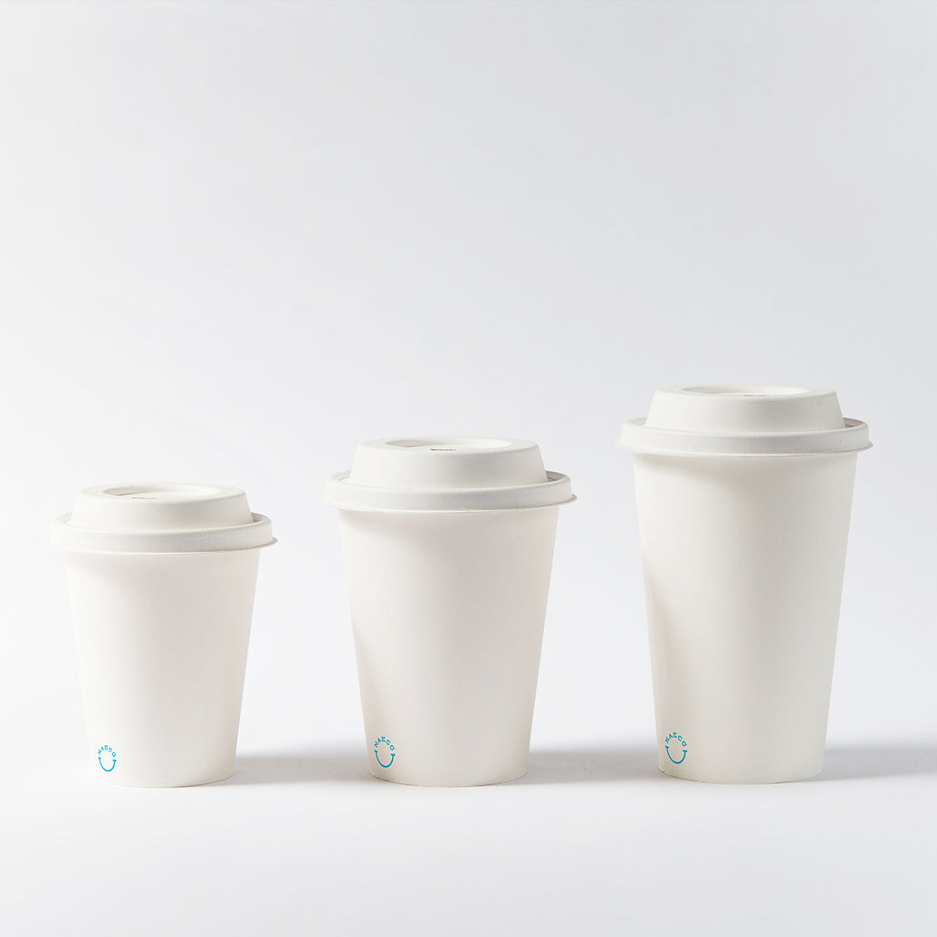 Zero Plastic Biodegradable Paper Coffee Lids:  1000/case (Wholesale)