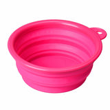 Silicone Collapsible Portable Pet Travel Bowl Set Of 2 - 7 Colors