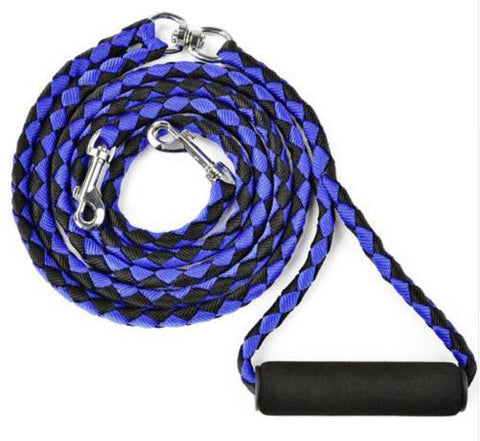 Tangle Free Braided Double Dog Lead. 3 Colors