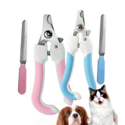 Stainless Steel Nail Clippers & File For Dogs or Cats