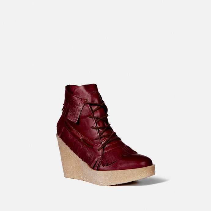 Jerome Dreyfuss Dakota 95 Wedge Boot in Bordeaux