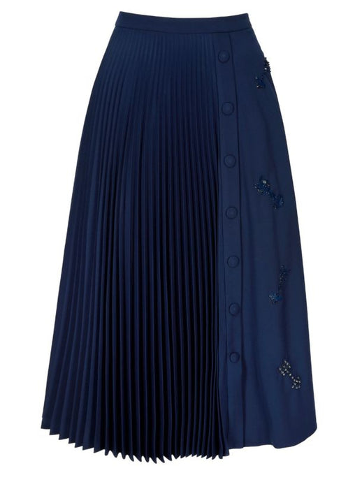 Markus Lupfer Gemma Arrow Pleated Skirt