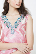 Kloset Embellished Jacquard Hawaiian Top