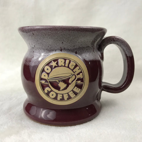 Burgundy/white handcrafted Do Right mug - 16 oz.