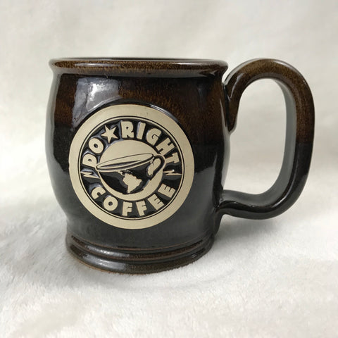 Brown/Black handcrafted Do Right mug - 14 oz.