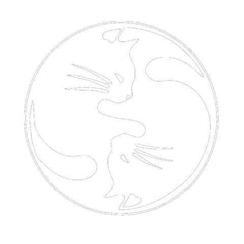 Yin and Yang Cats Auto Decal Car Window and Laptop Sticker