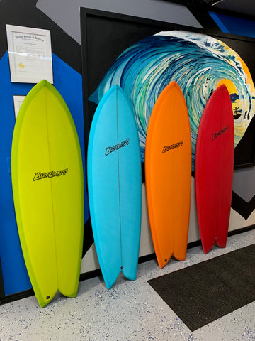Outcast Surfboards Retro and Modern Fish