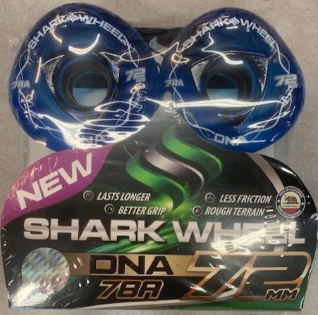 72MM Shark Wheels Blue