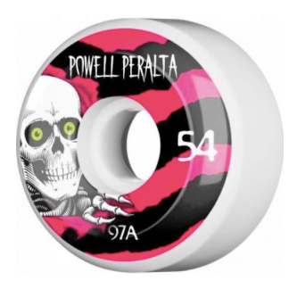 POWELL PERALTA RIPPER CLASSIC 4 54mm 97a WHITE W/BLK/PINK