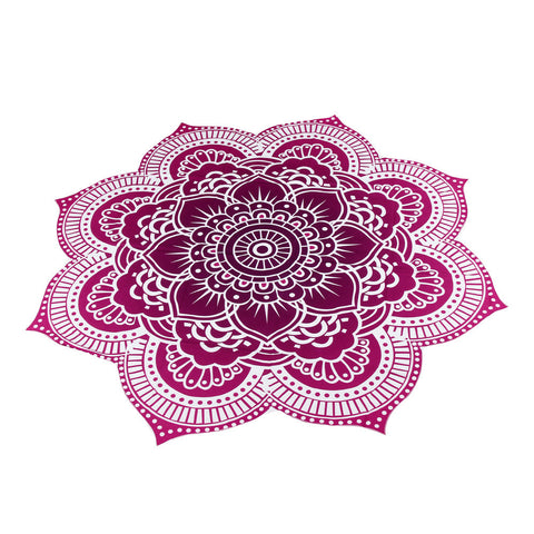 Lotus Flower Shaped Beach Towel