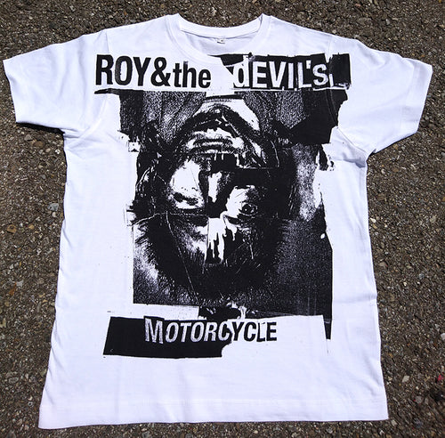 ROY & THE DEVIL'S MOTORCYCLE - WHITE TEE