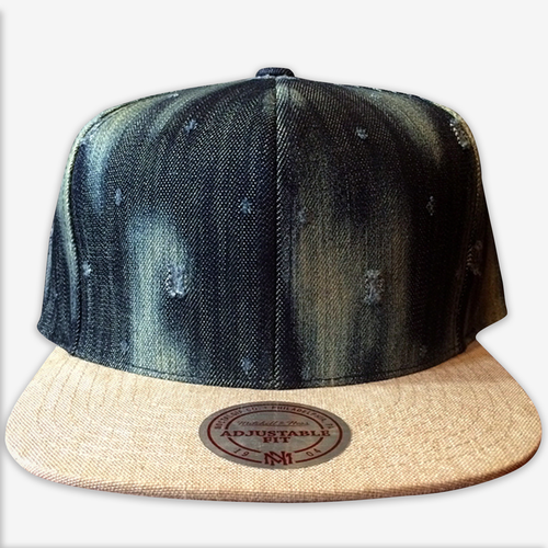 Blank Denim Mitchell & Ness Snapback