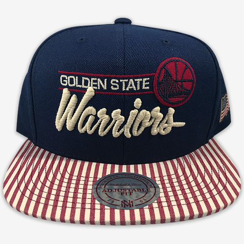 Golden State Warriors 4th of July Mitchell & Ness Snapback