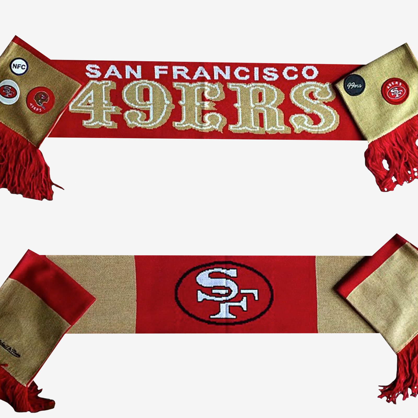 Mitchell & Ness 49ers Reversible Scarf