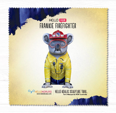 Hello Koalas Frankie Firefighter Cleaning Cloth
