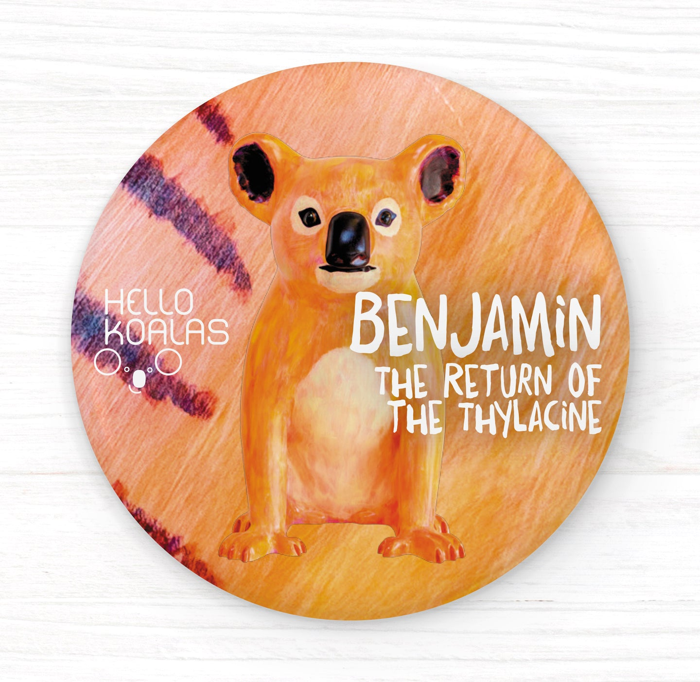 Hello Koalas Benjamin The Return of the Thylacine Badge