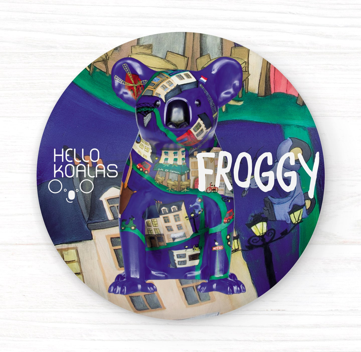 Hello Koalas Froggy Badge