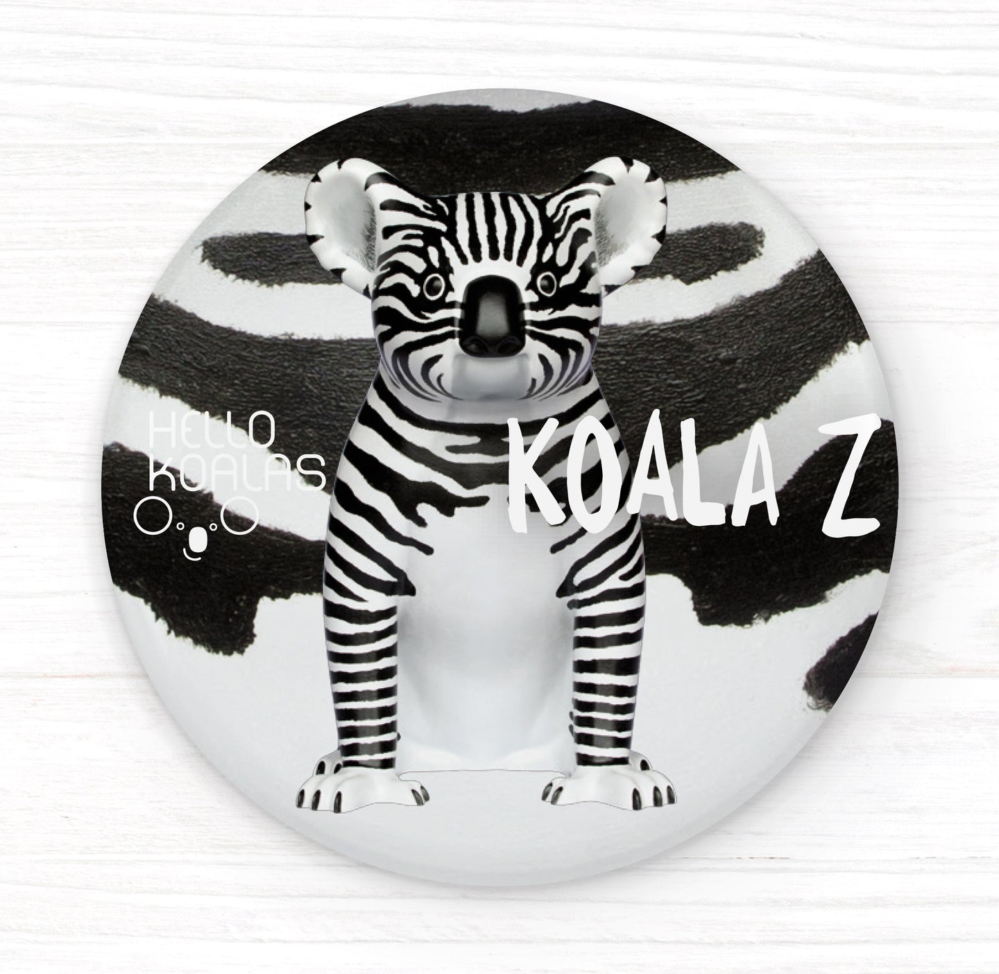 Hello Koalas Koala Z Badge