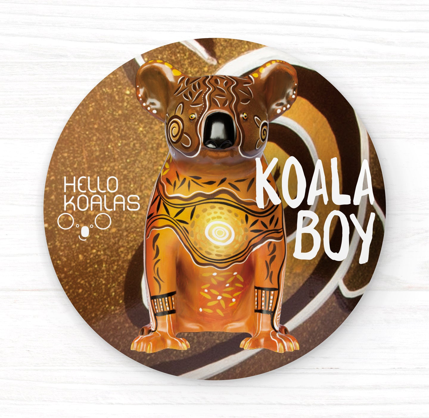 Hello Koalas Koala Boy Badge