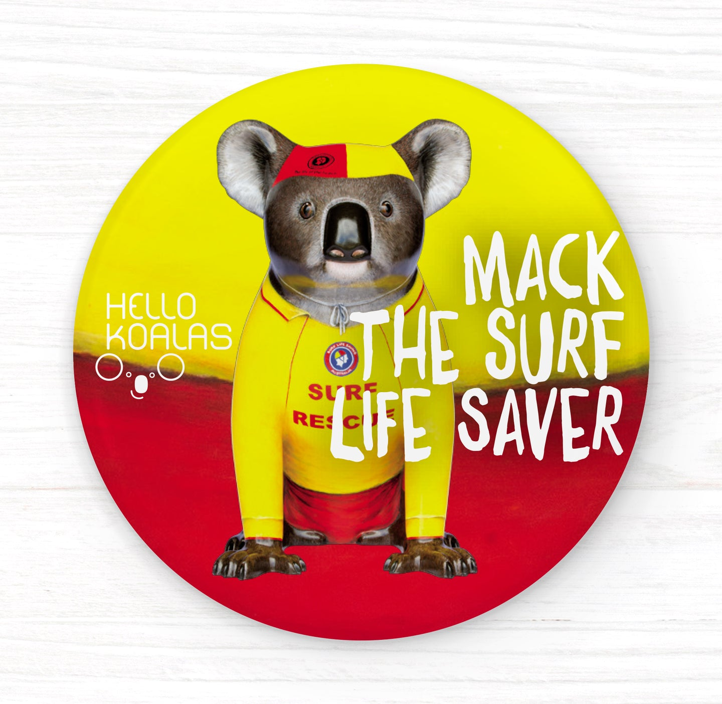 Hello Koalas Mack the Surf Lifesaver Badge