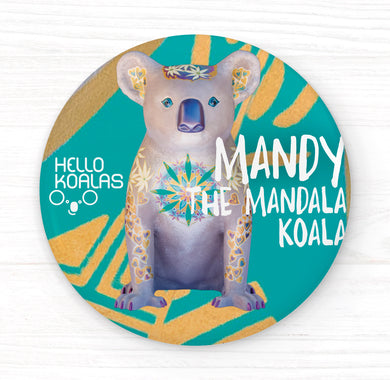 Hello Koalas Mandy The Mandala Koala Badge