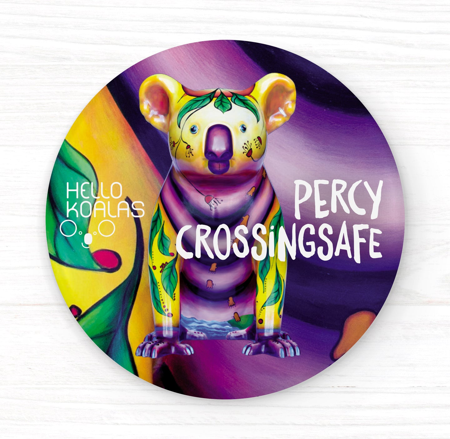 Hello Koalas Percy Crossingsafe Badge