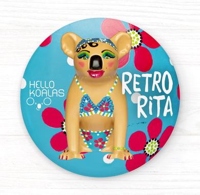 Hello Koalas Retro Rita Badge