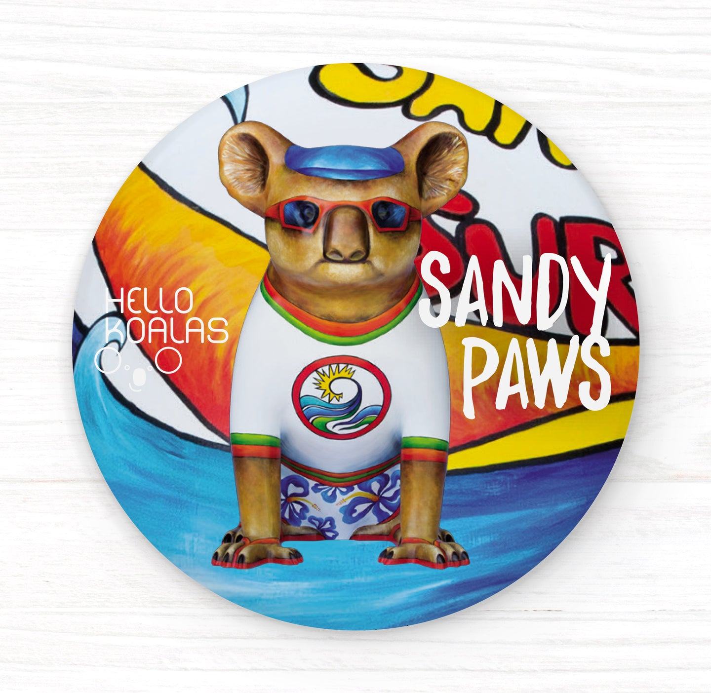 Hello Koalas Sandy Paws Badge