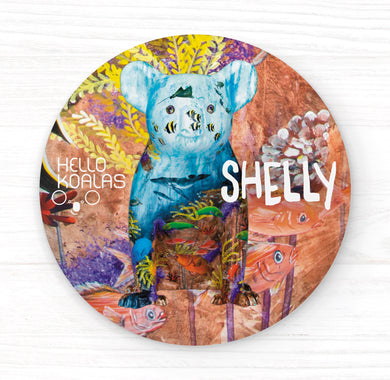 Hello Koalas Shelly Badge