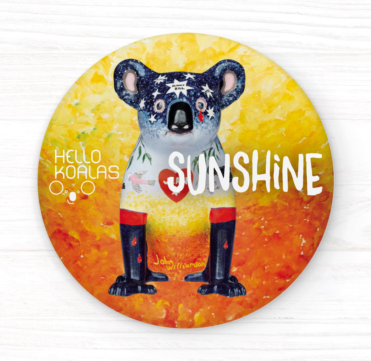 Hello Koalas Sunshine Badge