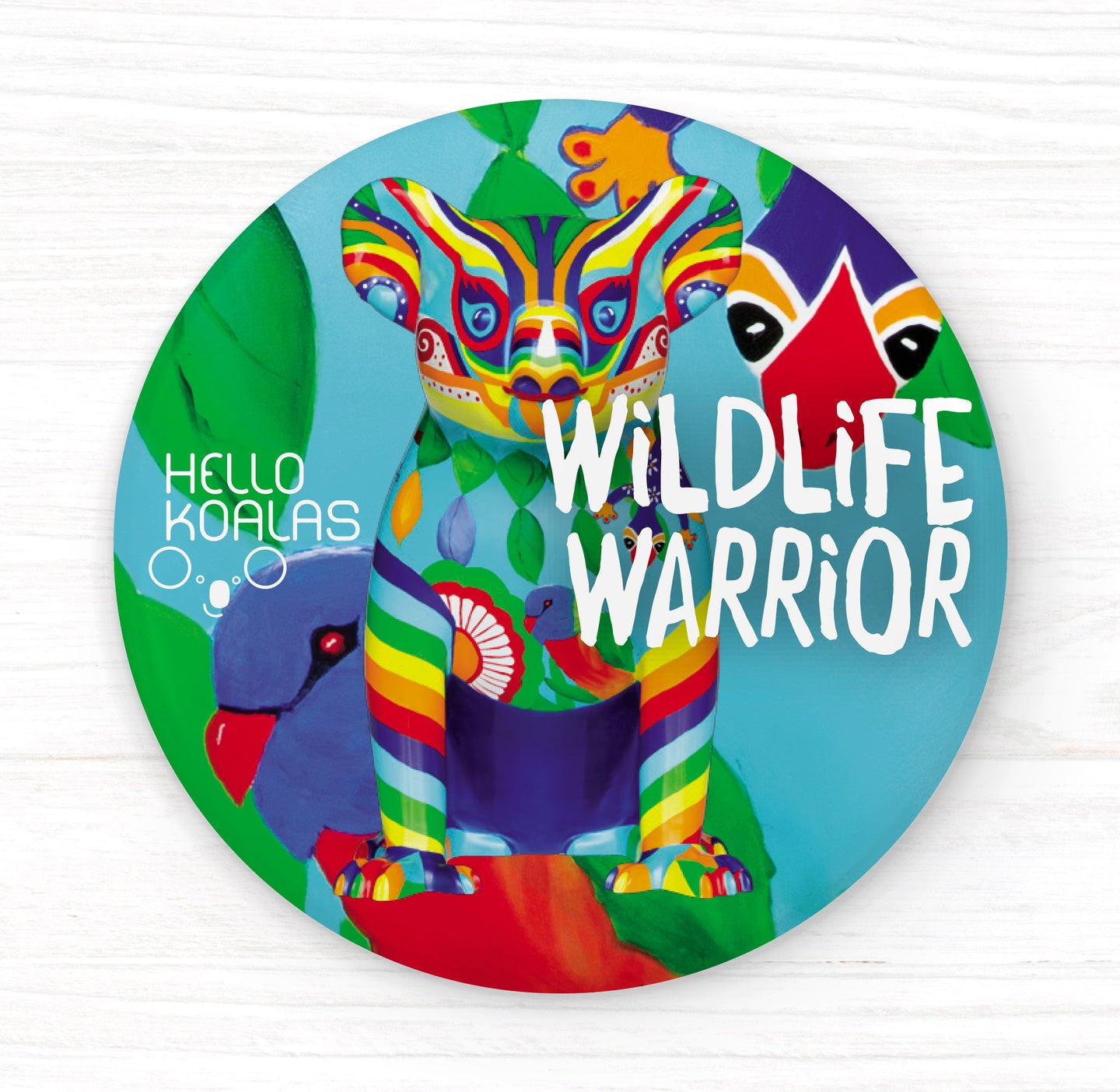 Hello Koalas Wildlife Warrior Badge