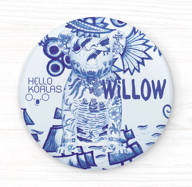 Hello Koalas Willow Badge
