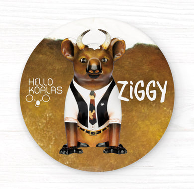 Hello Koalas Ziggy Badge