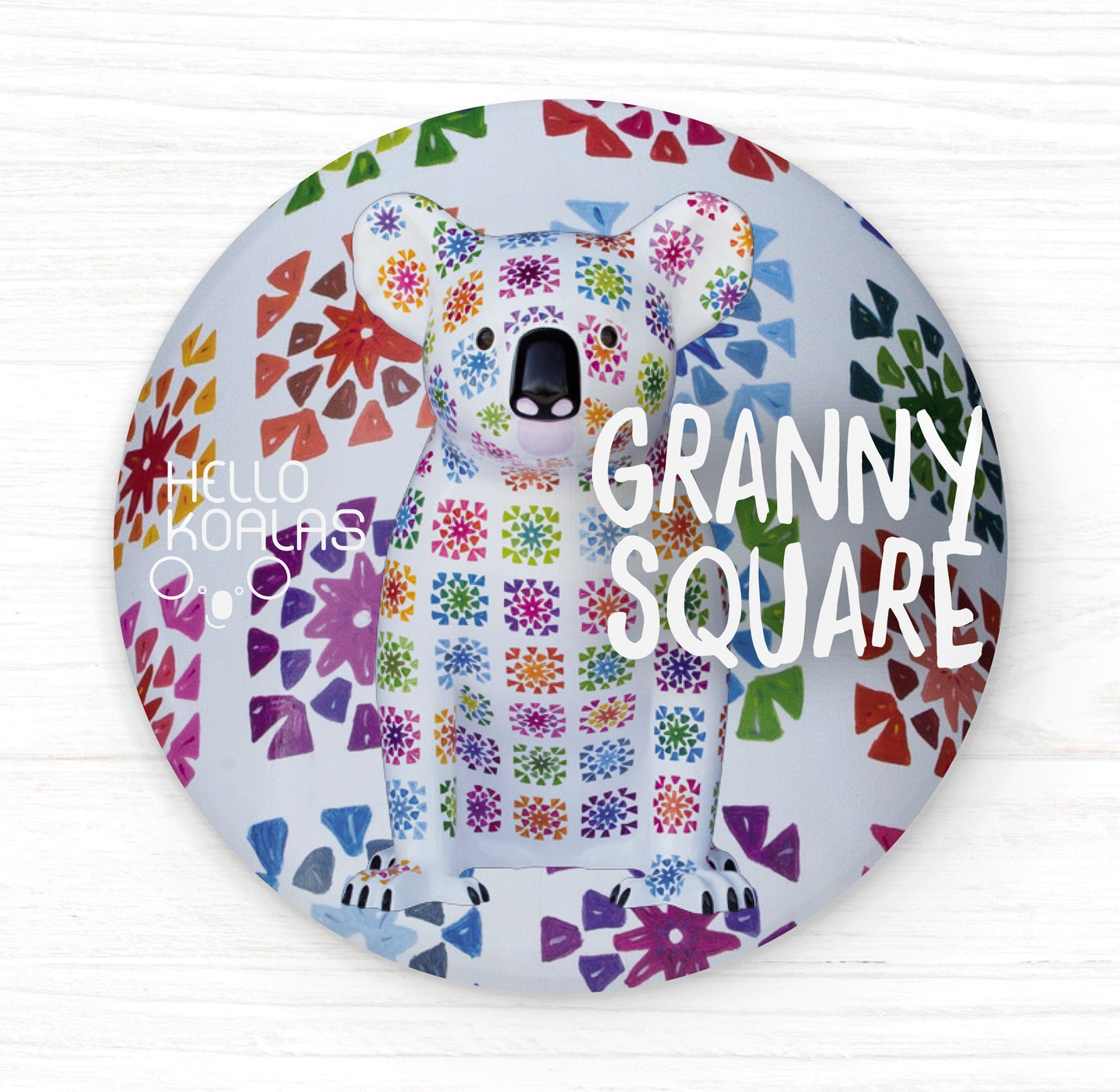 Hello Koalas Granny Square Badge