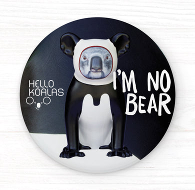 Hello Koalas I'm No Bear Badge