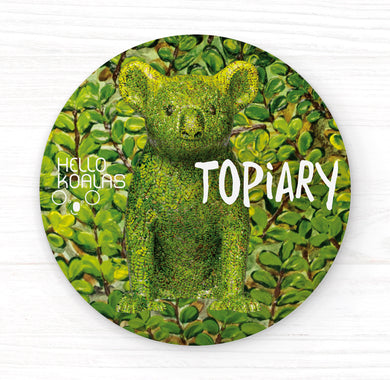 Hello Koalas Topiary Badge