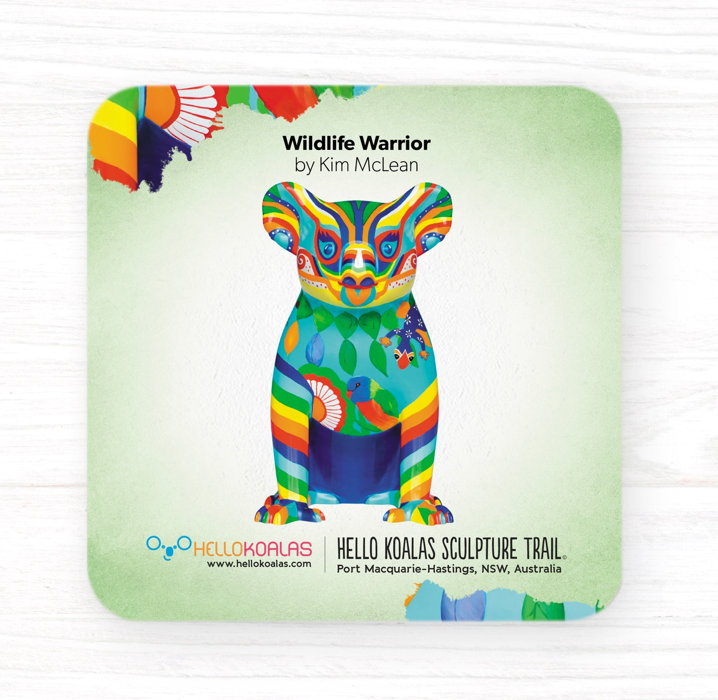 Hello Koalas Wildlife Warrior Coaster