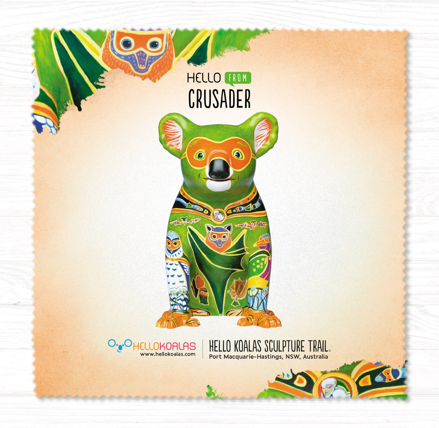Hello Koalas Crusader Cleaning Cloth