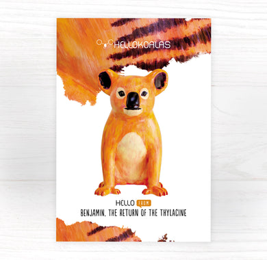 Hello Koalas Benjamin the Return of the Thylacine Postcard