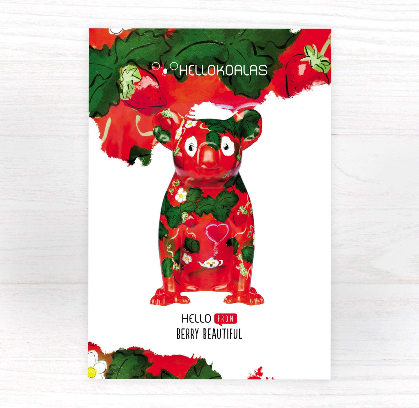 Hello Koalas Berry Beautiful Postcard