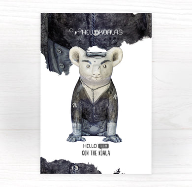 Hello Koalas Con the Koala Postcard